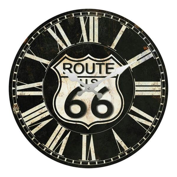 Szklany zegar Route 66, 34 cm