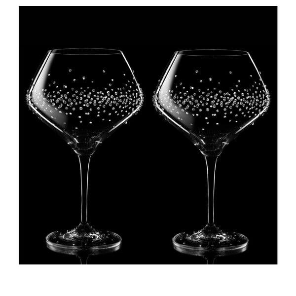 Zestaw 2 kieliszków do czerwonego wina Hermes ze Swarovski Elements
