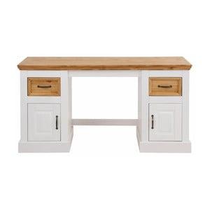 Białe biurko z litej sosny Støraa Suzie