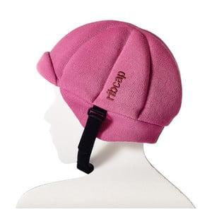 Różowa dziecięca czapka ochronna Ribcap Jackson, L