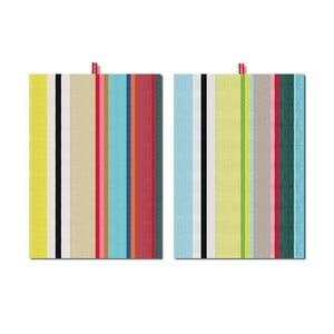 Zestaw 2 ścierek Remember Green Stripes, 70x50 cm