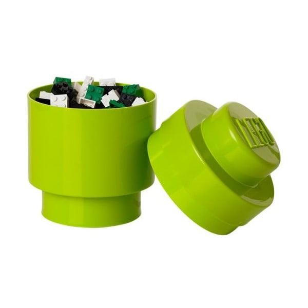 Okrągły pojemnik LEGO, jasnozielony