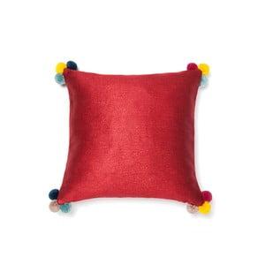 Czerwona poduszka Cassa Di Bassi Pom Pom, 40x40 cm