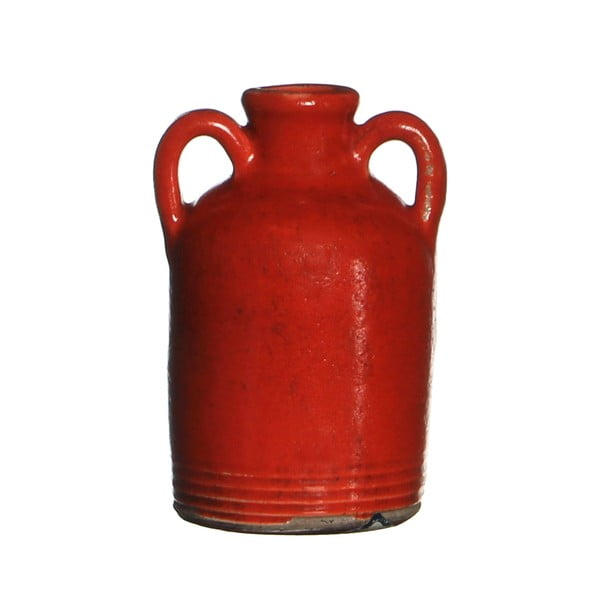 Wazon ceramiczny Sil Red, 14x7.5 cm