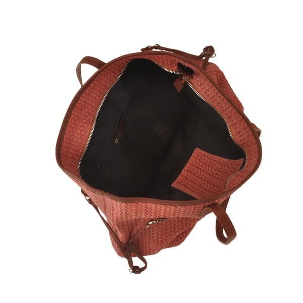 Skórzana torebka Merga, pomarańczowa
