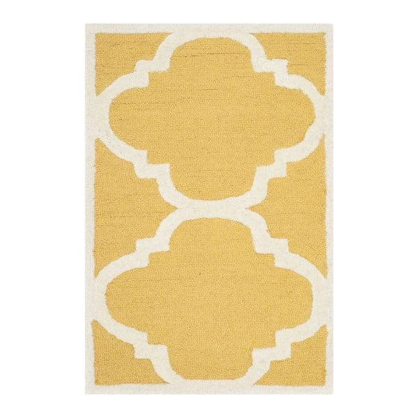 Dywan wełniany Clark Yellow, 60x91 cm