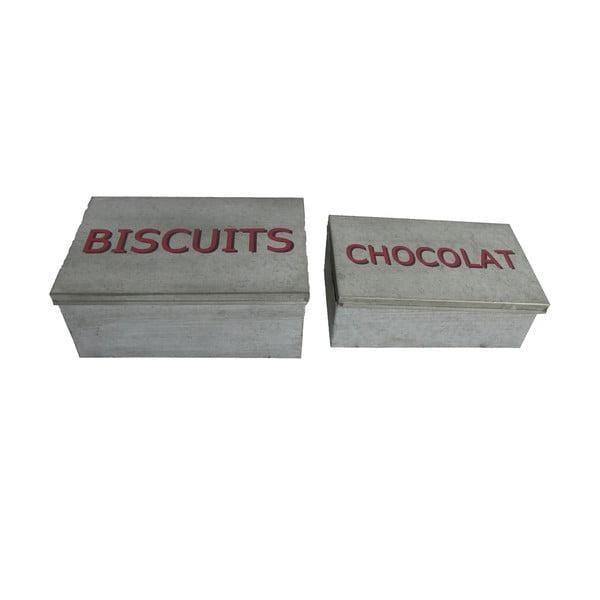 Zestaw 2 pojemników Antic Line Biscuits & Chocolat