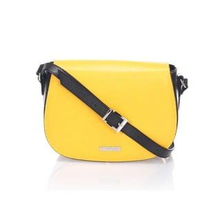 Skórzana torebka Krole Karina, żółta/czarna