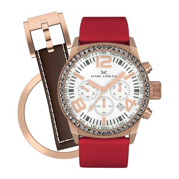 Zegarek damski Marc Coblen z dodatkowym paskiem i obręczą P84