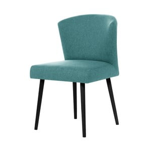 Błękitne krzesło z czarnymi nogami My Pop Design Richter