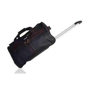Czarna torba podróżna na kółkach Unanyme Georges Rech,66l