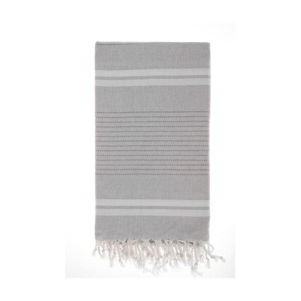 Ręcznik Hamam Bodrum Grey, 100x180 cm