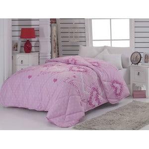 Narzuta pikowana Suenso Pink, 195x215cm