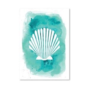 Plakat Watercolor Aqua Shell