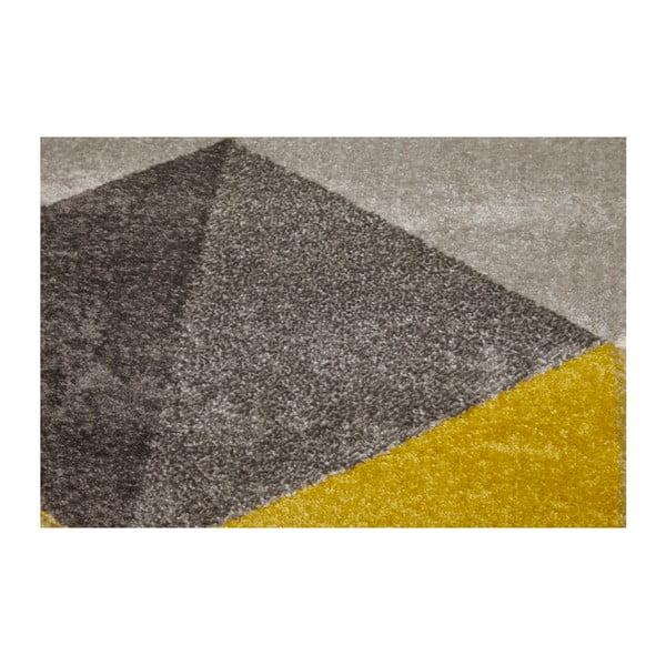 Dywan z żołtymi detalami Kokoon Muoto, 160 x 230 cm