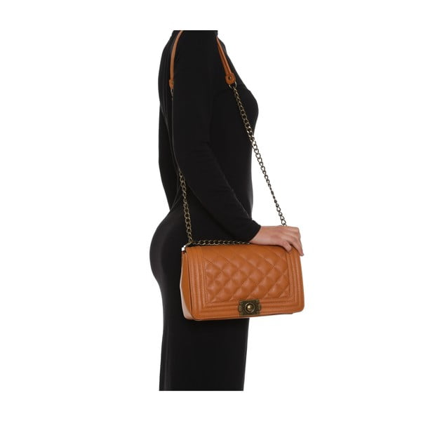 Skórzana torebka Anna Luchini 2064 Cognac