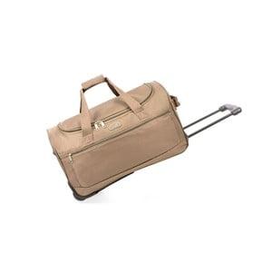 Beżowa torba podróżna na kółkach Hero,43l