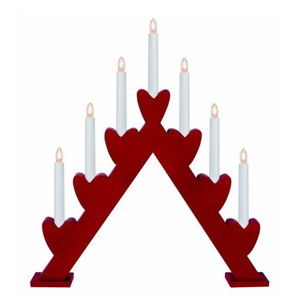 Czerwony świecznik LED Best Season Annie