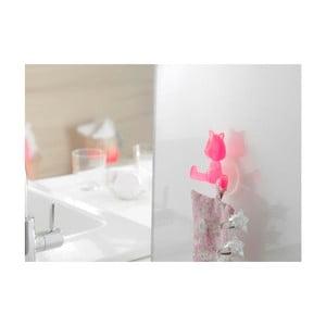 Różowy uchwyt z przyssawkami w kształcie kota Compactor