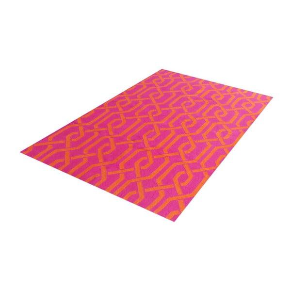 Ręcznie tkany dywan Kilim Modern 37 Pink, 150x240 cm