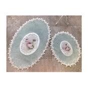 Zestaw 2 dywaników łazienkowych Alessia Inci Oval Mint