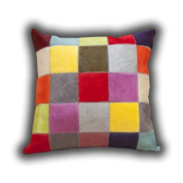 Poduszka skórzana Fancy Colors, 45x45 cm