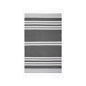 Szary ręcznik hammam Begonville Samsara Hippy, 180x100 cm