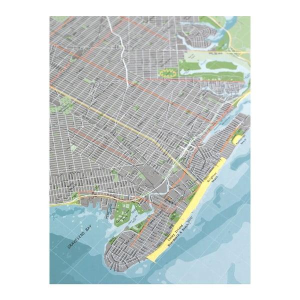 Mapa Nowego Jorku The Future Mapping Company Street Map, 130x100 cm