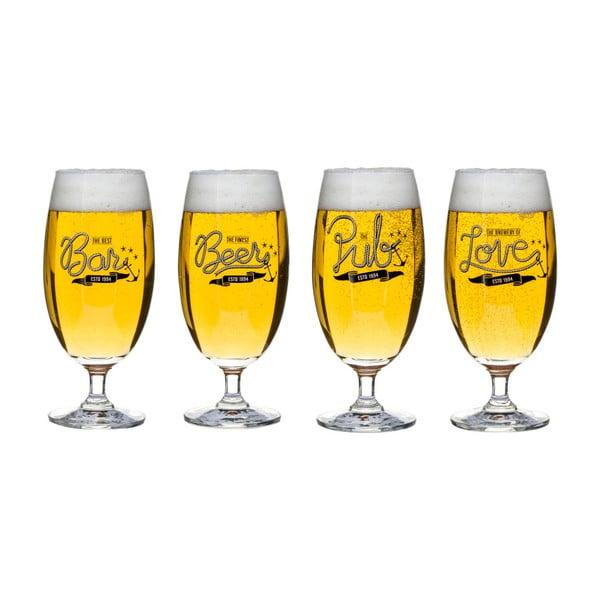 Zestaw 4 szklanek do piwa Sagaform Club Beer, 420 ml