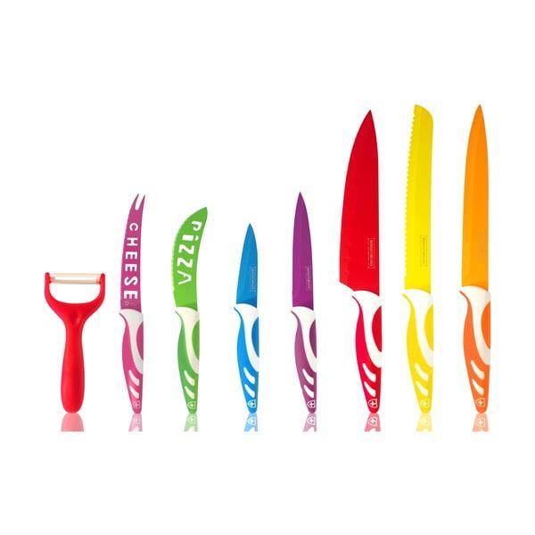 Komplet 7 noży, obieraczki i nożyczek Royalty Line