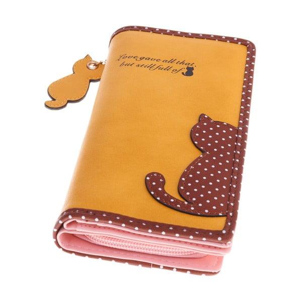 Duży portfel Cat, żółty