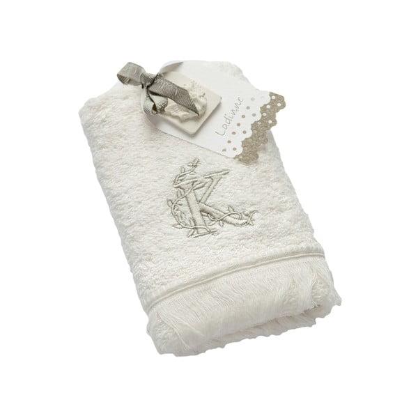 Ręcznik z inicjałem K, 30x50 cm