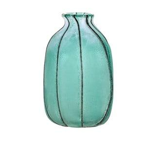Niebieski wazon szklany Dino BIanchi Lecce, wysokość 23,5cm