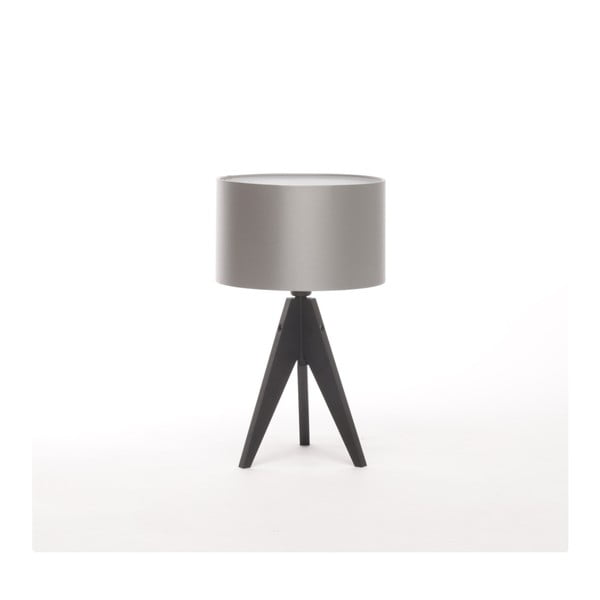 Srebrna lampa stołowa 4room Artist, czarna lakierowana brzoza, Ø 25 cm
