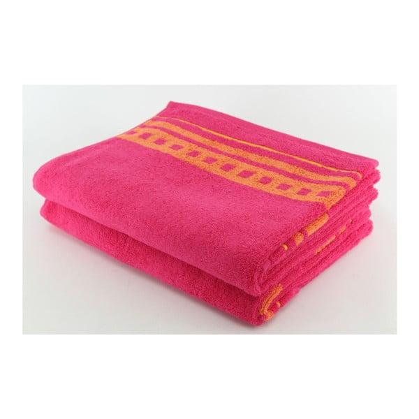Komplet 2 ręczników Pinky, 70x140 cm