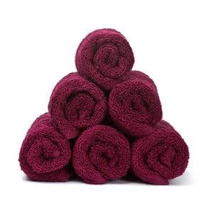 Komplet 6 bordowych ręczników bawełnianych Casa Di Bassi Guest, 30x50 cm