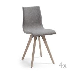 Zestaw 4 szarych krzeseł La Forma Una