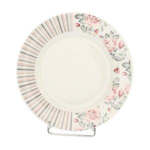 Porcelanowy talerz Róża, 20 cm