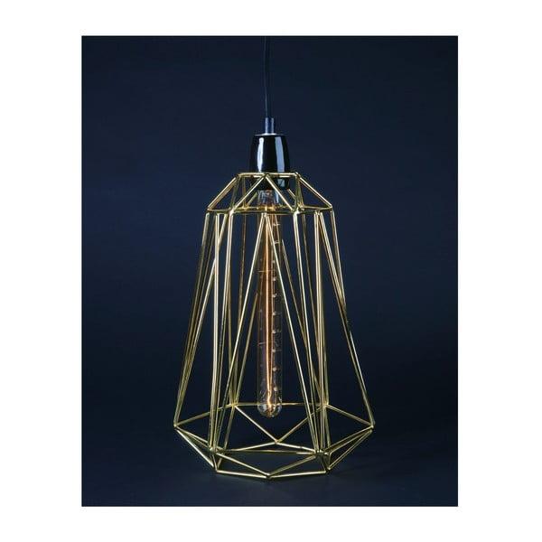 Złota lampa wisząca z czarnym kablem Filament Style Diamond #5