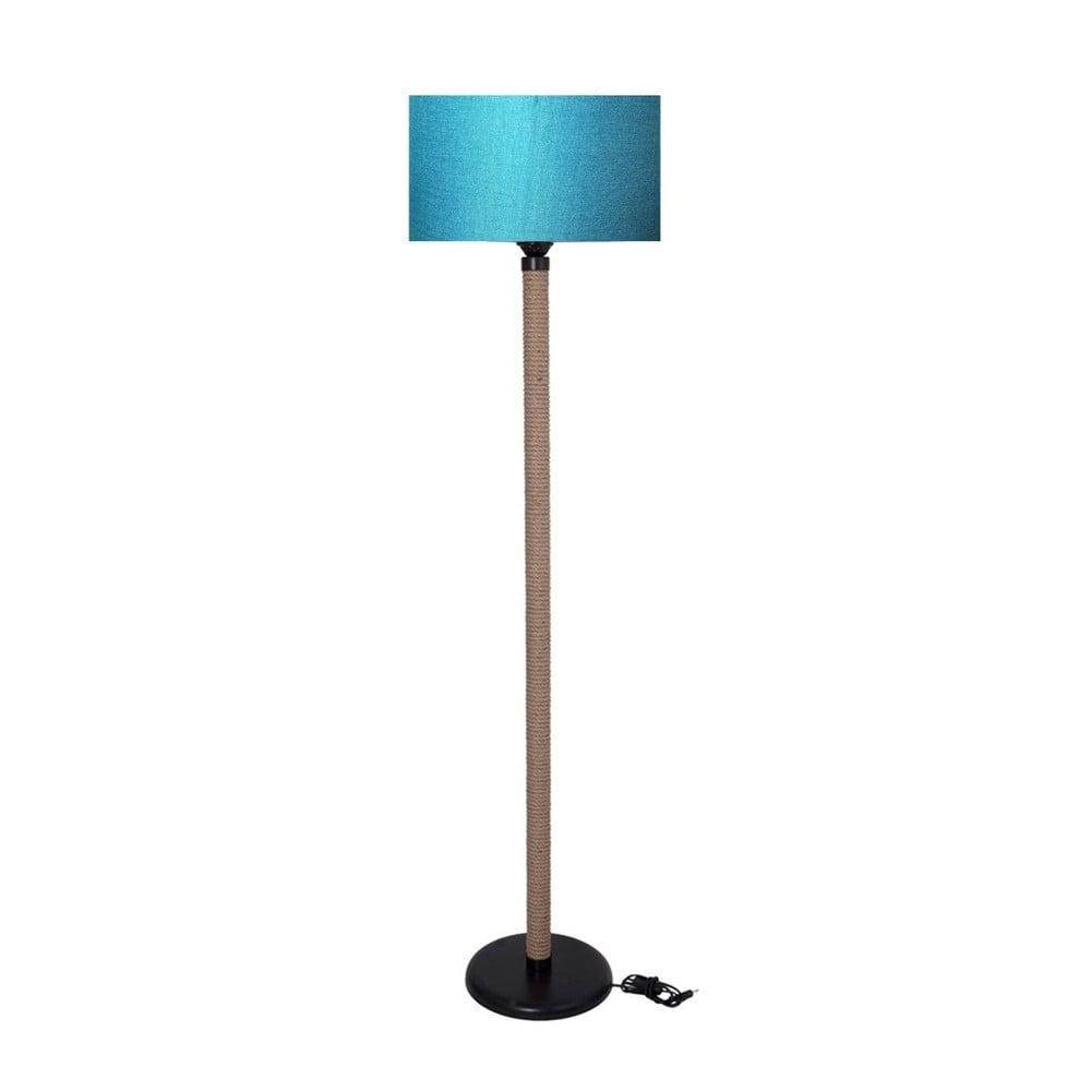 Lampa wolnostojąca z turkusowym kloszem lampa Kate Louise Rope