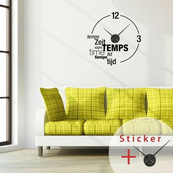 Naklejka Clock Wall, 55x55 cm