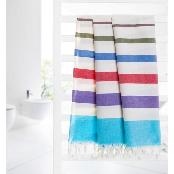 Ręcznik hammam Form, niebieski/biały