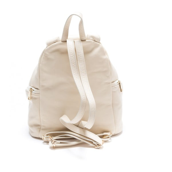 Skórzany plecak Roberta M. 2079 Beige