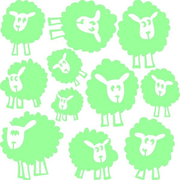 Naklejka świecąca Fanastick Sheeps