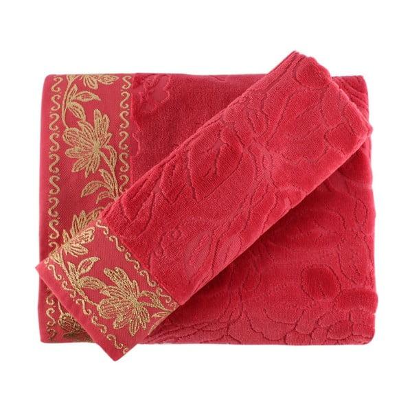 Zestaw różowego ręcznika i ręcznika kąpielowego Asu