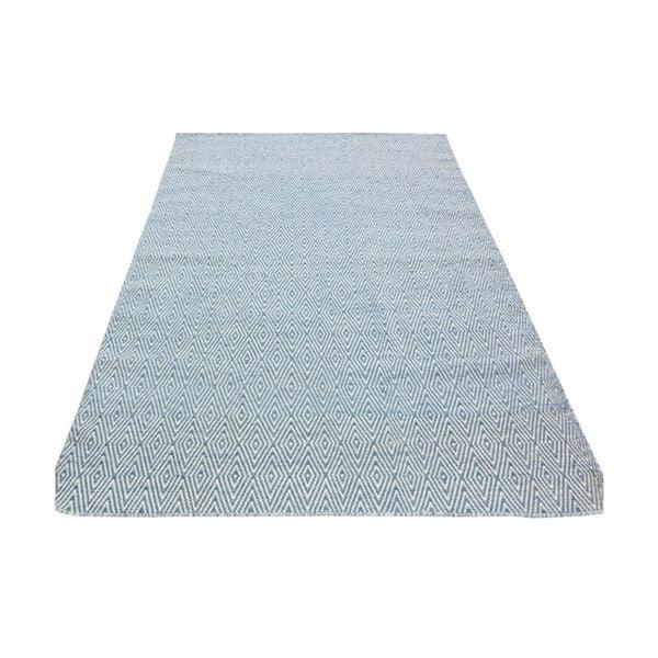Dywan tkany ręcznie Kilim Barfi, 100x150cm, niebieski