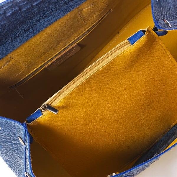 Niebieska torebka skórzana Federica Bass Menkar
