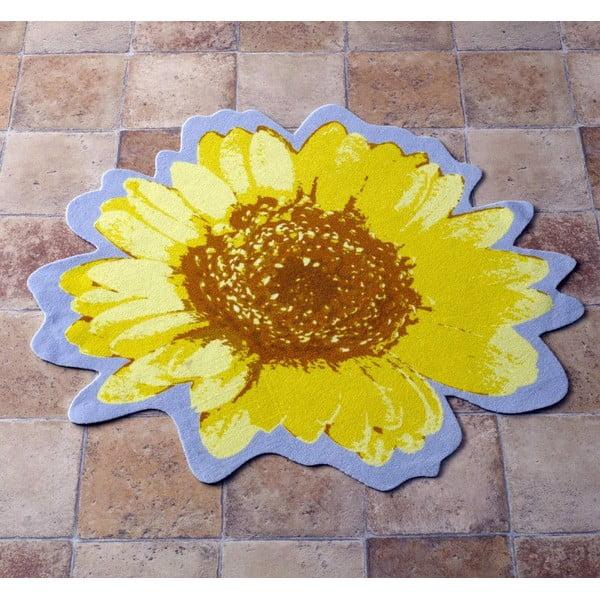 Dywan Special - żółty kwiat, 100 cm