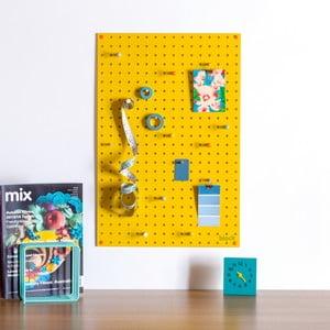 Wielofunkcyjna tablica Pegboard 40x61 cm, żółta