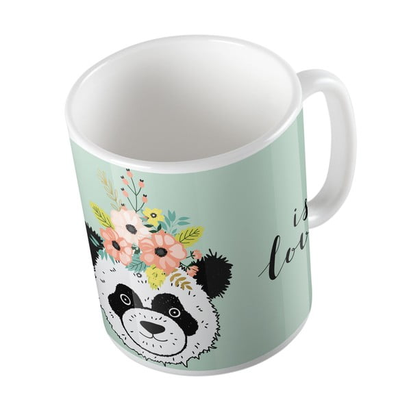 Kubek Butter Kings Panda With Flowers